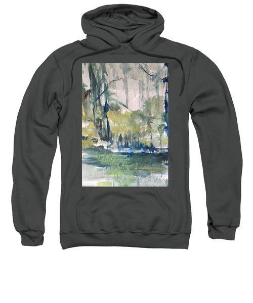 Bayou Blues Abstract Sweatshirt