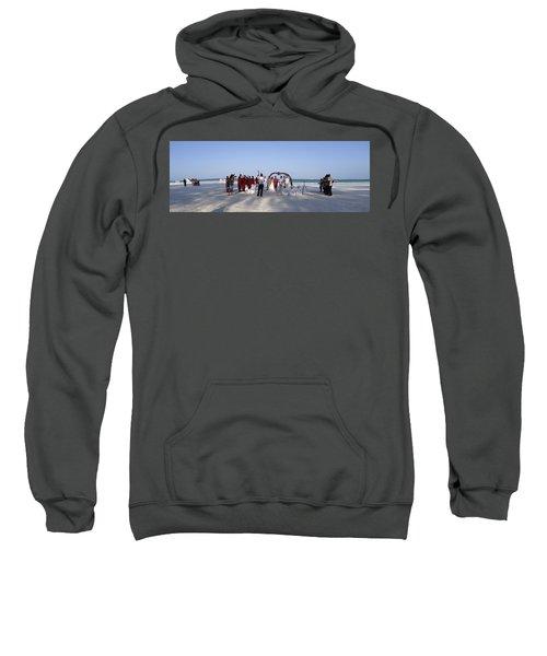 Beach Panoramic Wedding  Sweatshirt