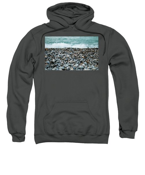 Sweatshirt featuring the photograph Beach Pebbles by MGL Meiklejohn Graphics Licensing