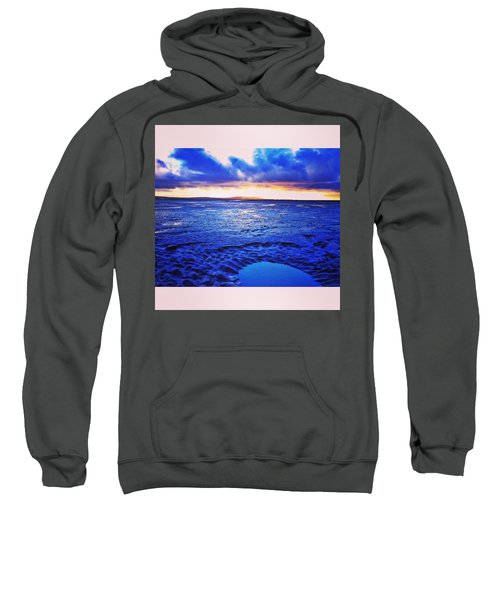 Beach Puddle. #beach #sunset Sweatshirt