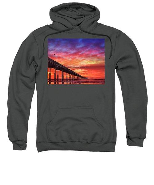 Beach Sunset Ocean Wall Art San Diego Artwork Sweatshirt