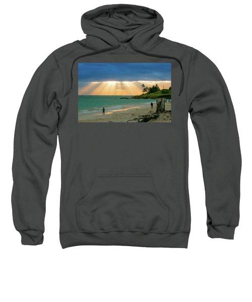 Beach Walk At Sunrise Sweatshirt