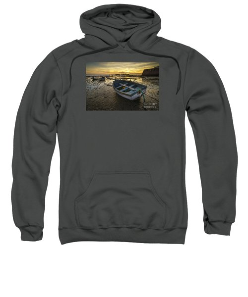 Beached Boat On La Caleta Cadiz Spain Sweatshirt
