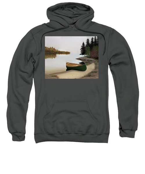 Beached Canoe In Muskoka Sweatshirt