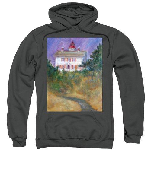Beacon On The Hill - Lighthouse Painting Sweatshirt