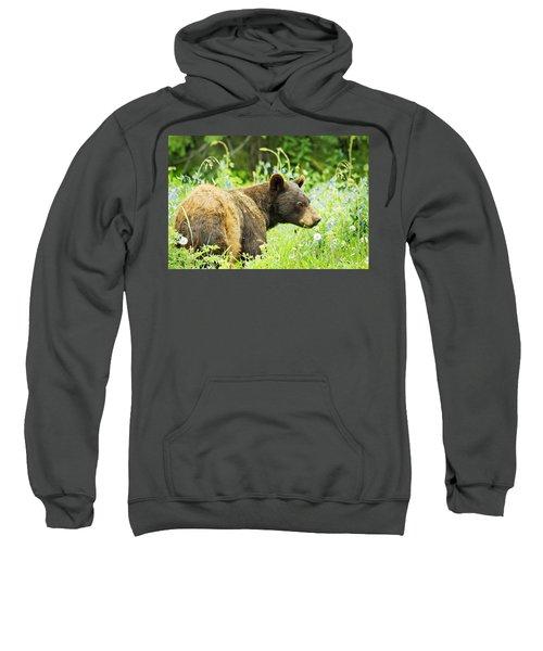 Bear In Flowers Sweatshirt