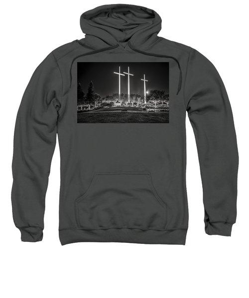 Bearing Witness In Black-and-white Sweatshirt