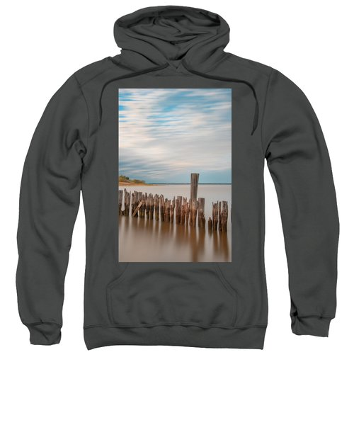 Beautiful Aging Pilings In Keyport Sweatshirt