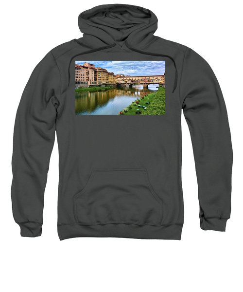 Ponte Vecchio On A Spring Day In Florence, Italy Sweatshirt