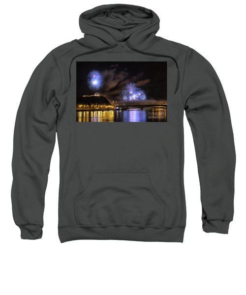 Beautiful Fireworks In Budapest Hungary Sweatshirt