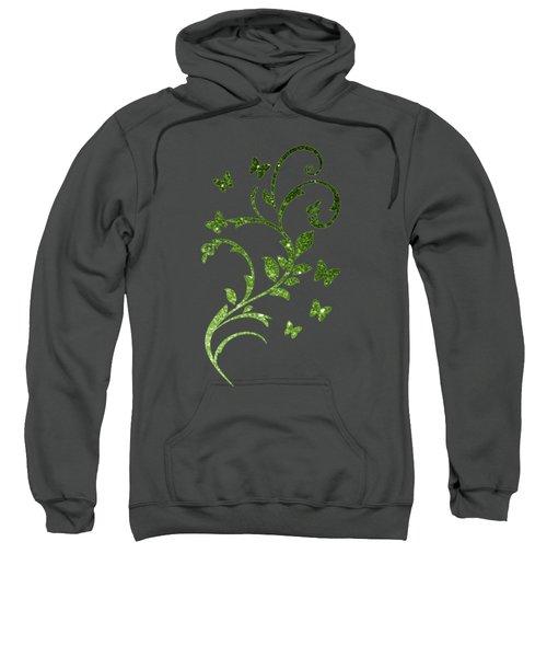 Beautiful Light Green Greenery Glitter Sparkles Sweatshirt