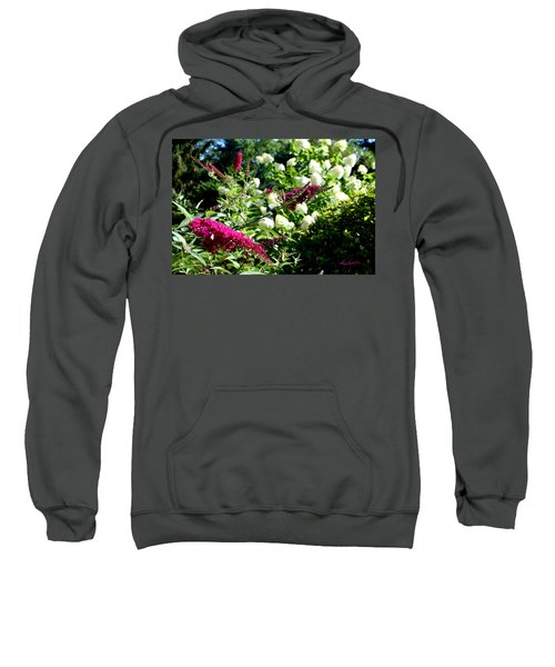 Sweatshirt featuring the photograph Beckoning Butterfly Bush by Hanne Lore Koehler