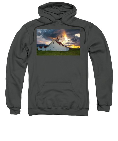 Beckwith Ranch At Sunset With Crepuscular Rays And Virga Sweatshirt