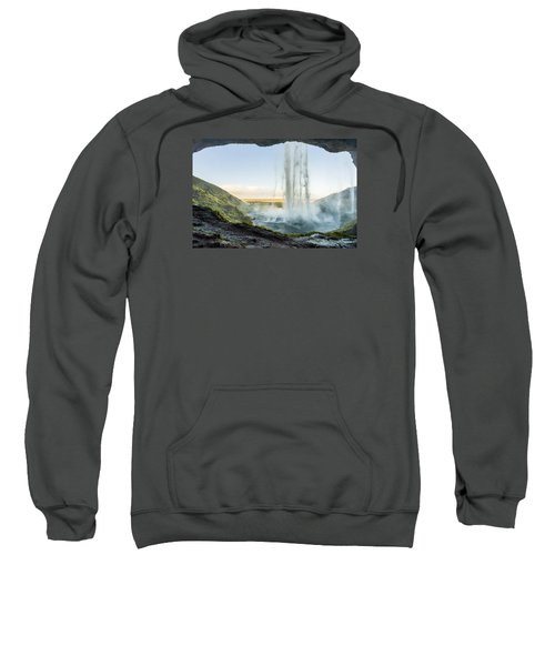 Behind Seljalandsfoss Sweatshirt
