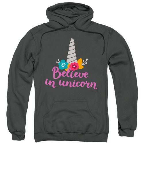 Believe In Unicorn Sweatshirt by Edward Fielding