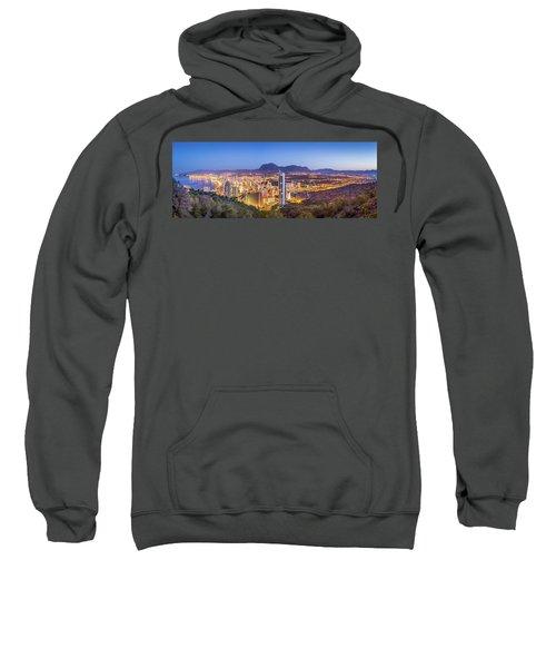 Benidorm At Sunrise, Spain. Sweatshirt