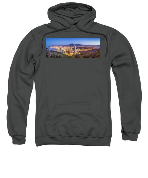 Benidorm At Sunrise, Spain. Sweatshirt
