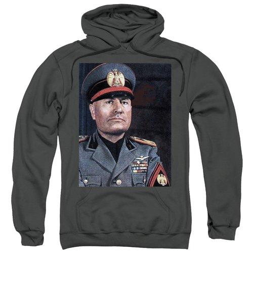 Benito Mussolini Color Portrait Circa 1935 Sweatshirt