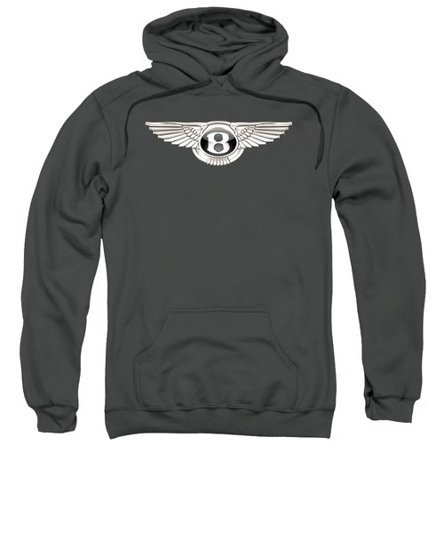 Bentley 3 D Badge On Red Sweatshirt by Serge Averbukh