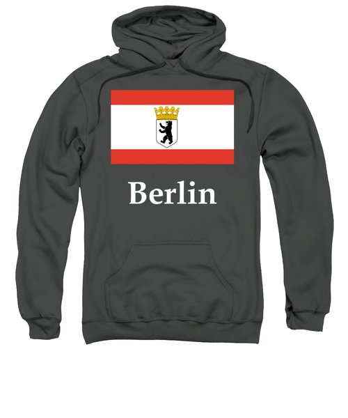 Berlin, Germany Flag And Name Sweatshirt by Frederick Holiday