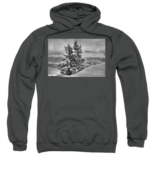 Between Mountains And Snow Drift Black And White Sweatshirt