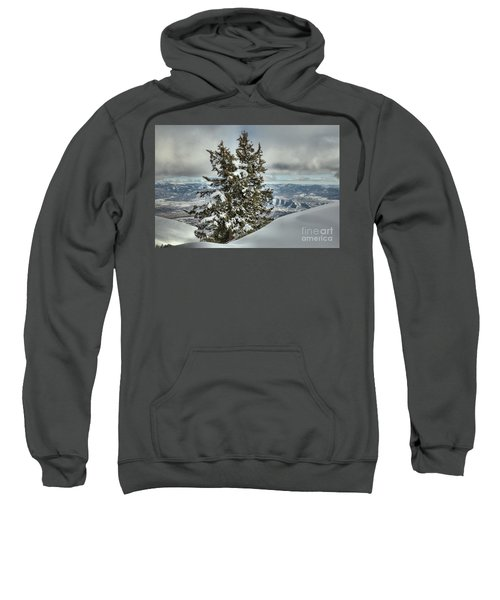 Between Mountains And Snow Drifts Sweatshirt