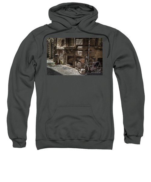 Bicycle In Rome, Italy Sweatshirt