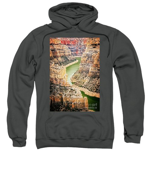 Sweatshirt featuring the photograph Bighorn River by Scott Kemper