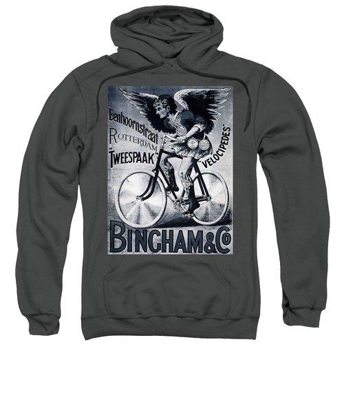 Bingham And Co - Bicycle - Vintage Dutch Advertising Poster Sweatshirt