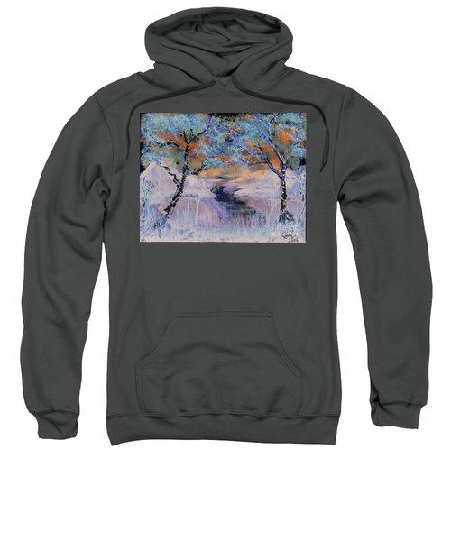 Birch Trees On The Ridge 2 Sweatshirt