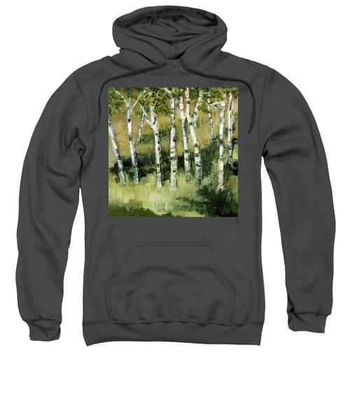 Birches On A Hill Sweatshirt