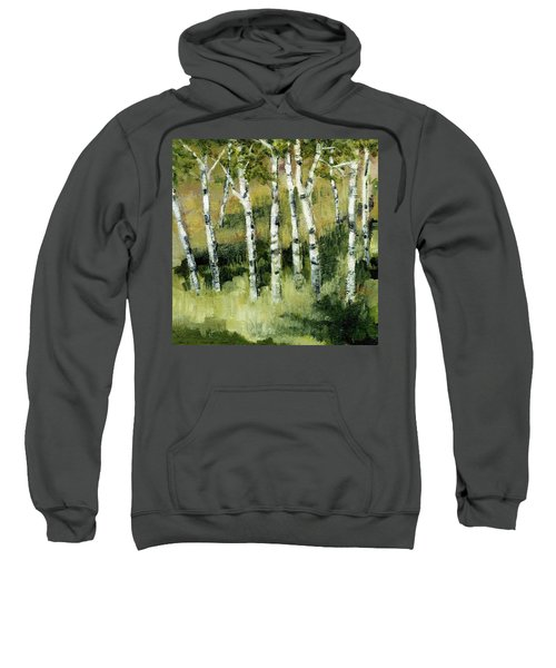 Birches On A Hill Sweatshirt