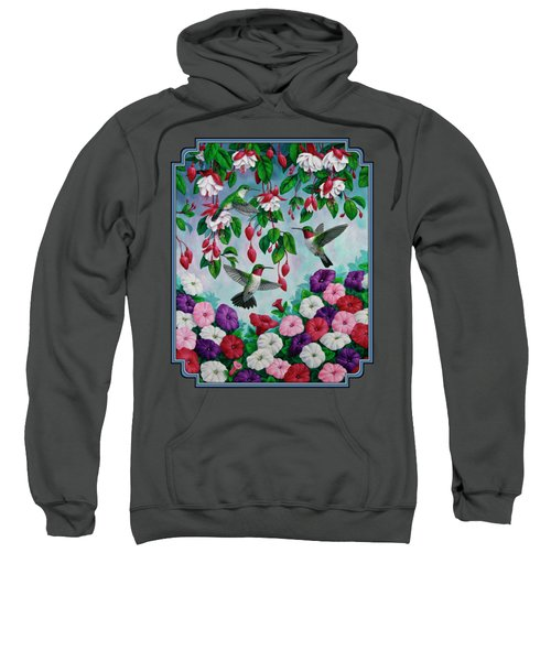 Bird Painting - Hummingbird Heaven Sweatshirt by Crista Forest