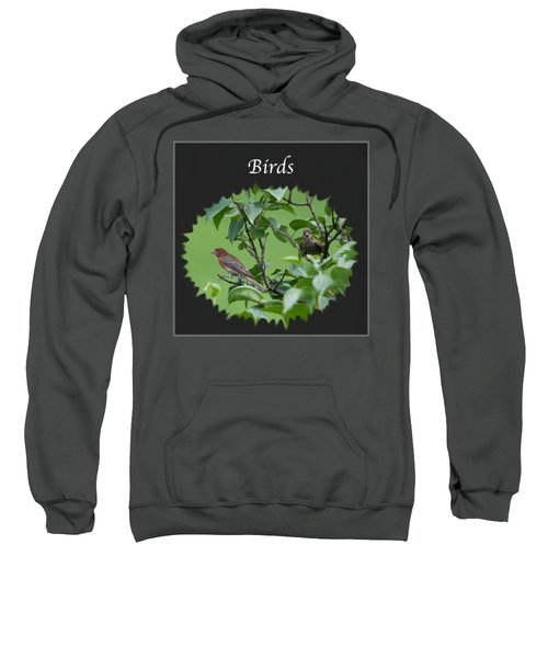 Birds Sweatshirt by Jan M Holden