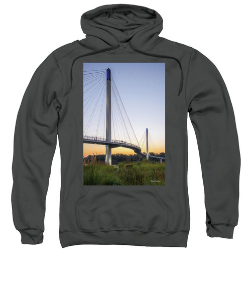 Birds Soaring Over Bob Kerry Bridge Sweatshirt