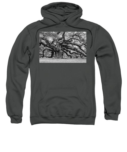 Black And White Angel Oak Tree Sweatshirt