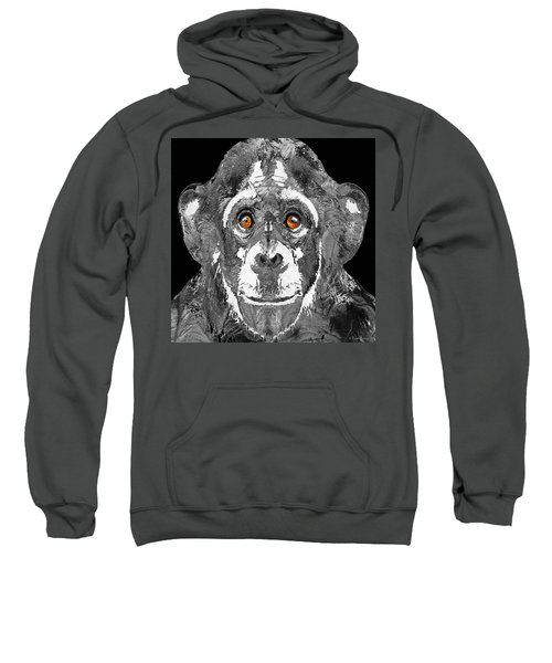 Black And White Art - Monkey Business 2 - By Sharon Cummings Sweatshirt by Sharon Cummings