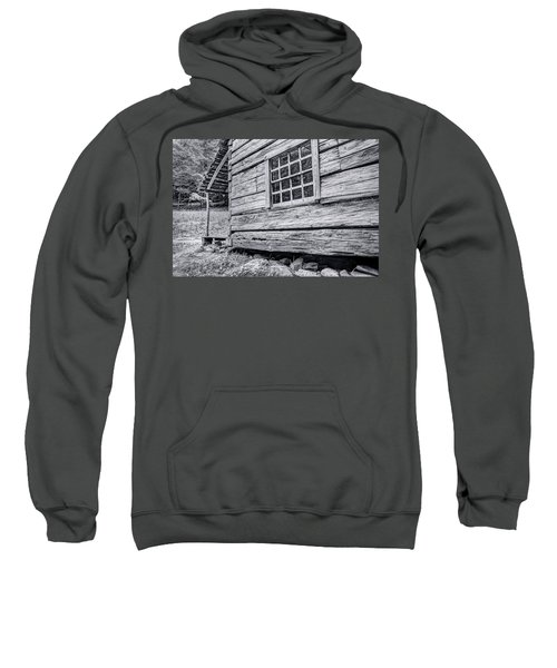 Black And White Cabin In The Forest Sweatshirt