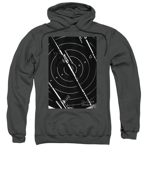 Black And White Military Marksman  Sweatshirt