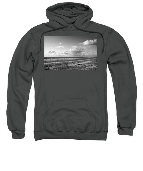 Black And White Ocean Scene Sweatshirt