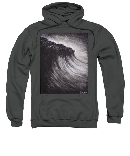 Black And White Wave Guam Sweatshirt