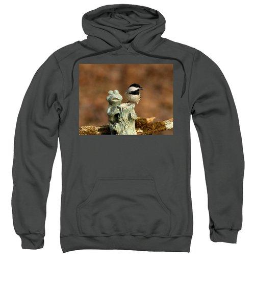 Black-capped Chickadee And Frog Sweatshirt