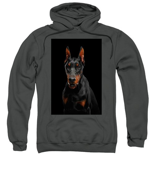 Black Doberman Sweatshirt