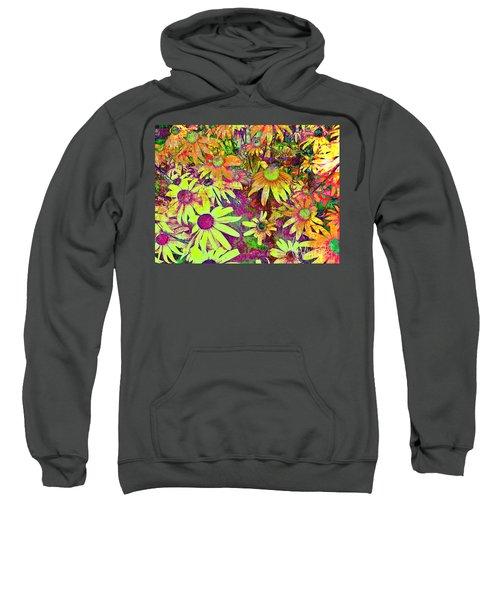 Black-eyed Susan   Abstract  Sweatshirt