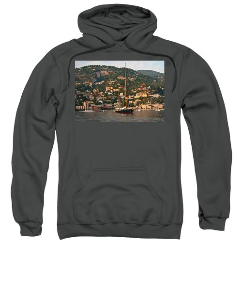 Black Sailboat At Villefranche II Sweatshirt