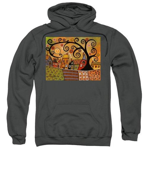 Black Swirl Tree Landscape 1 Sweatshirt