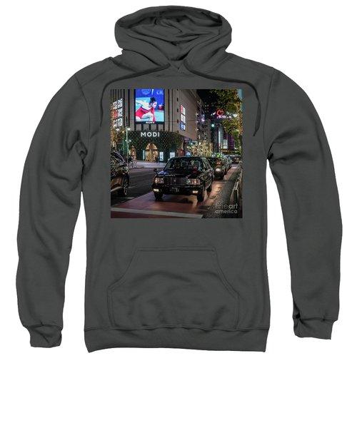 Black Taxi In Tokyo, Japan Sweatshirt