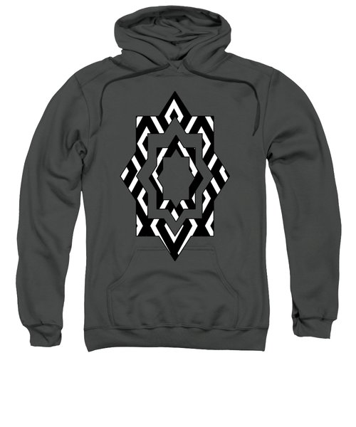 Sweatshirt featuring the mixed media Black And White Pattern by Christina Rollo