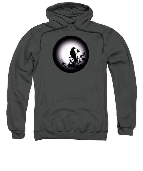 Blackbird In Silhouette  Sweatshirt by David Dehner