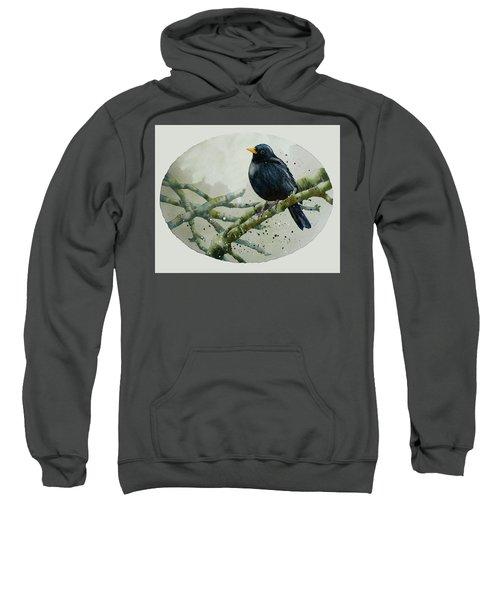 Blackbird Painting Sweatshirt by Alison Fennell